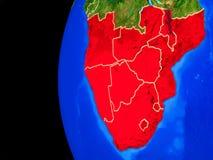 Südlicher Afrika vom Raum lizenzfreie abbildung