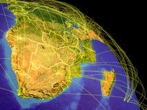Südlicher Afrika vom Raum stock abbildung