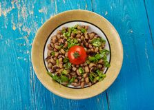 Südlicher Art-strenger Vegetarier Black Eyed Peas Stockfoto