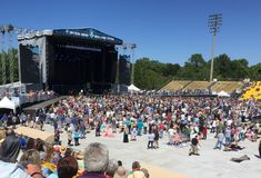 Südlicher Boden Festival, Daniel Island, South Carolina lizenzfreie stockfotos