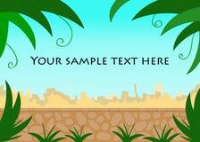 Südlicher Stadtansicht-Texthintergrund Stockfoto