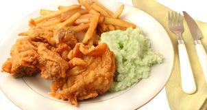 Südliches Abendessen des gebratenen Huhns lizenzfreie stockfotos