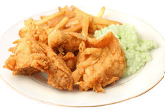 Südliches Abendessen des gebratenen Huhns Stockfotos