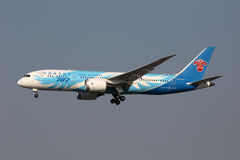 Südliches Boeing 787-8 Dreamliner Flugzeug Shanghai Hongqia Chinas Stockfotografie