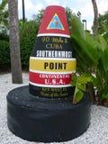 Südlichster Punkt in der kontinentalen USA-Markierung Lizenzfreie Stockfotografie
