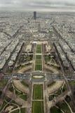 Südostansicht-Eiffelturm Stockbilder