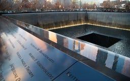 Südpool des World Trade Center-Denkmals Stockfotografie