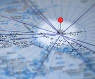 Südpoole auf der Karte Stockbilder