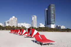 Südstrand, Miami Lizenzfreie Stockfotografie