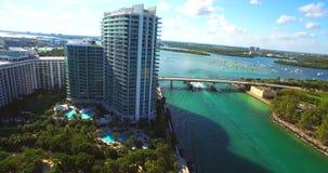 Südstrand, Miami Beach florida Haulover-Park Luftvideo stock footage