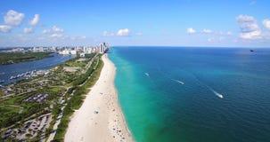 Südstrand, Miami Beach florida Haulover-Park Luftvideo stock video footage