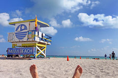 Südstrand Miami, Florida Stockbild