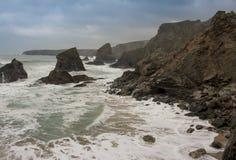 Südwest-Küsten- Weg, Nord-Cornwall, podark Fernsehen Lizenzfreies Stockfoto