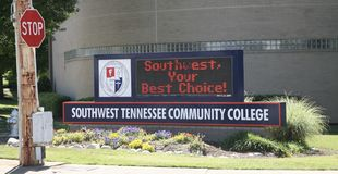 Südwesten Tennessee Community College Marquee stockfotos