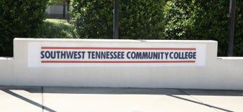 Südwesten Tennessee Community College Sign Stockbild