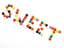 SÜSS - bunte Süßigkeit Stockfoto