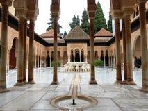 Sąd lwy, Alhambra, Granada, Hiszpania zdjęcie stock