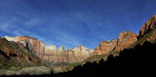 Sąd patriarchowie, Zion park narodowy, Utah zdjęcia stock