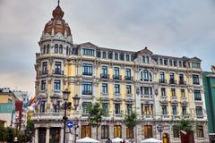 Sąsiedztwa stary miasto Oviedo na Październiku 20, Hiszpania zdjęcia stock