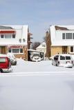 sąsiedztwo śnieg Obrazy Royalty Free