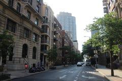 Sąsiedztwo po środku Nowego York blisko central park zdjęcie royalty free
