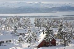sąsiedztwo zima zdjęcie stock