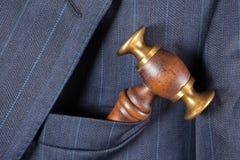 sędzia młoteczkowa kieszeń s zdjęcia royalty free