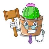 Sędzia maskotki gwiazdy kaktus dekoruje w ogródzie ilustracji