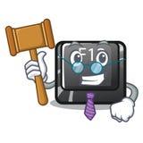 Sędziego f12 guzik instalujący na kreskówka komputerze royalty ilustracja