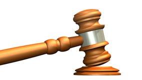 Sędziego młoteczek drewno Obrazy Royalty Free