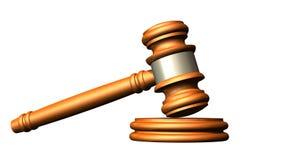 Sędziego młoteczek drewno Obraz Royalty Free