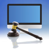 Sędziego młoteczek, internet aukcja Fotografia Royalty Free
