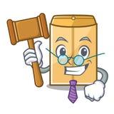 Sędziego mailer koperta odizolowywająca w kreskówce royalty ilustracja