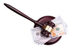 Sędziego pieniądze i Obrazy Royalty Free