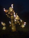Sęp robić od papieru i świateł Fotografia Stock