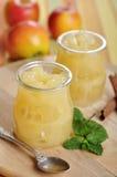 Słój jabłczany dżem Fotografia Royalty Free