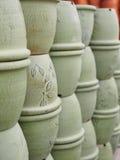 Słój puszkuje wazę Zdjęcia Stock