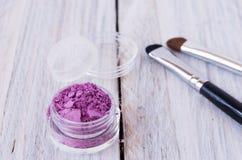 Słój różowi kosmetyki dla makijażu Obraz Royalty Free