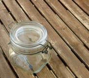 Słój z aromat ciasną foką dla konserwować przyskrzynia i galaretowacieje zdjęcia royalty free