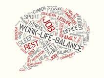 Słów obłoczni różni słowa wyznaczający równowaga ilustracja wektor