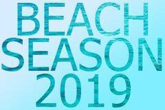 Słów plaże sezon 2019 royalty ilustracja