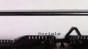 Słów socjologia 101 «pisać na maszynie na maszynie do pisania zbiory