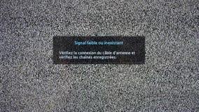 Słaba lub Sygnałowa Żadny inskrypcja na telewizja ekranie z hałasem ilustracja wektor
