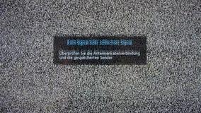 Słaba lub Sygnałowa Żadny inskrypcja na telewizja ekranie z hałasem royalty ilustracja