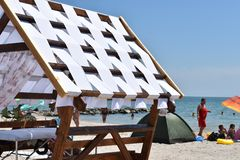 Słabnący odpoczynek na seashore Fotografia Stock
