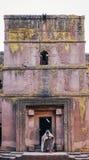 Sławna antyczna ortodoksyjna skała ciosający kościół lalibela Ethiopia Obraz Stock