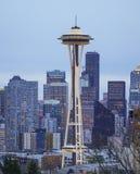 11, 2017 sławna Astronautyczna igła w Seattle SEATTLE, WASZYNGTON, KWIECIEŃ w wieczór -/- fotografia royalty free