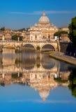 Sławna bazylika Di San Pietro w Watykan, Rzym, Włochy Obraz Stock