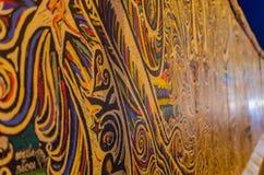Sławna Berlińska ściana blisko w nocy Fotografia Stock