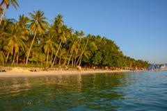 Sławna biel plaża na Boracay wyspie, Filipiny Obraz Royalty Free
